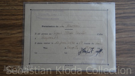 Dokumenty żołnierza - ochotnika B.S.K.