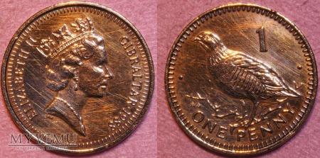 Gibraltar, 1 penny 1988
