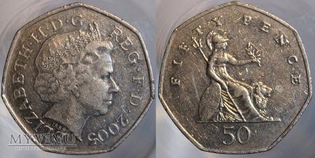 Wielka Brytania, 50 pence 2005