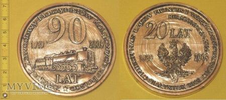 Medal kolejowy - związkowy ZZM w Białymstoku