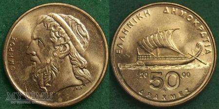 Grecja, 50 Drachm 2000