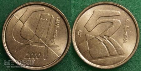 Hiszpania, 5 PTAS 2000