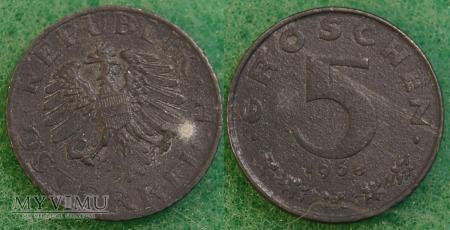 Austria, 5 groschen 1968