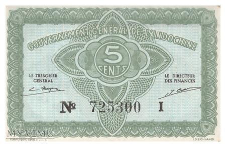 Indochiny Francuskie - 5 centów (1942)