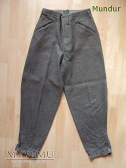 Szwecja: spodnie wojskowe z 1942r.