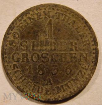 Duże zdjęcie 1 SILBER GROSCHEN 1836 A Fryderyk Wilhelm III