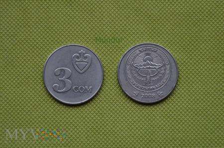 Moneta kirgiska: 3 com (3 sumy)