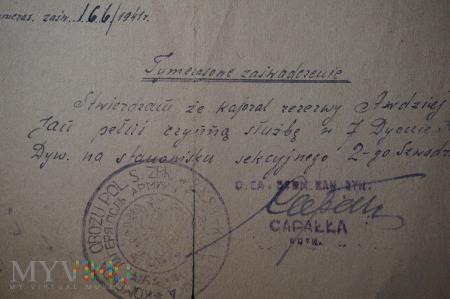 Zaświadczenie z terenu byłego ZSSR