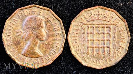 Wielka Brytania, THREE PENCE 1961
