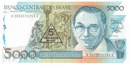 Brazylia - 5 cruzados novos (1989)