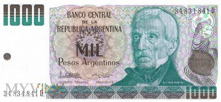 Argentyna - 1 000 pesos (1984)