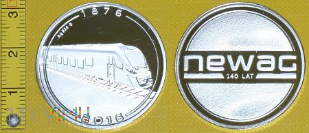Medal kolejowy - firmowy 140 lat Newag-u
