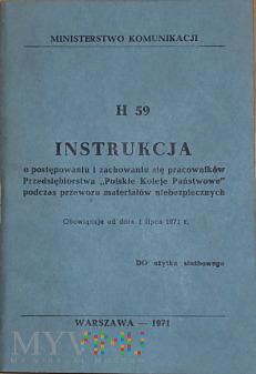 H59-1971 Instrukcja o przewozie mat. niebezpiecz.