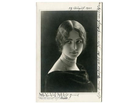 1901 Cléo de Mérode piękna ballet Postcard