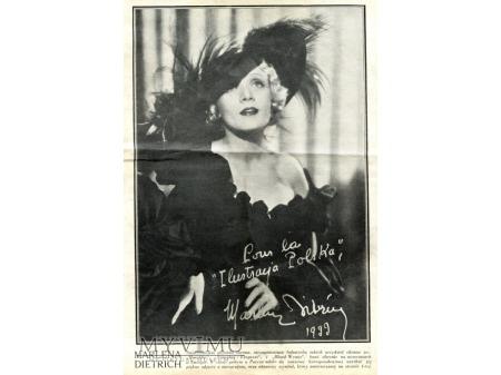JLUSTRACJA POLSKA Marlene Dietrich 1933 wywiad