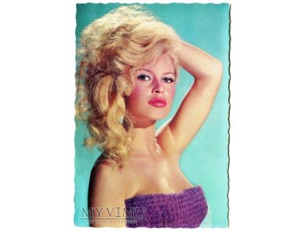 Brigitte Bardot FRANCJA EDUG vintage postcard