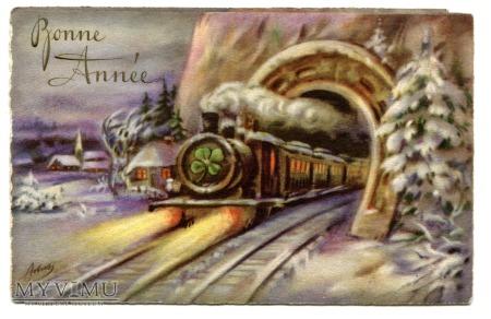 Nowy Rok pociąg w tunelu Podkowa KONICZYNA