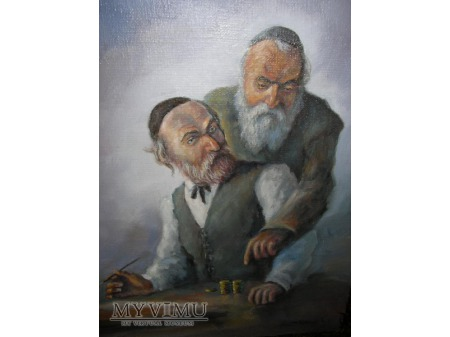 portret dwóch żydów