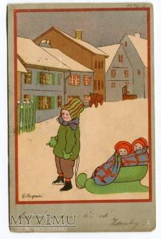 1906 Gertrud Caspari zimą NA SANECZKI Erika