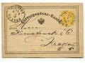 1875 z Wiednia do Krakowa Karta Korespondencyjna