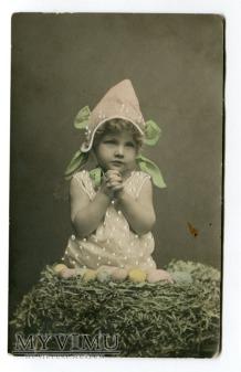 1908 Wielkanoc Pisanki Norwegia Tønsberg elf