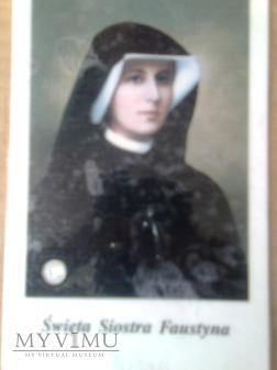 Obrazek z relikwią św. Faustyny Kowalskiej