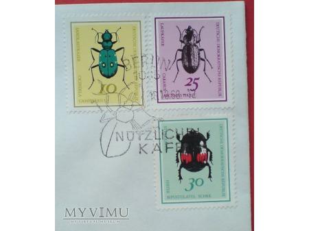 1968 Koperata znaczki pożyteczne chrząszcze