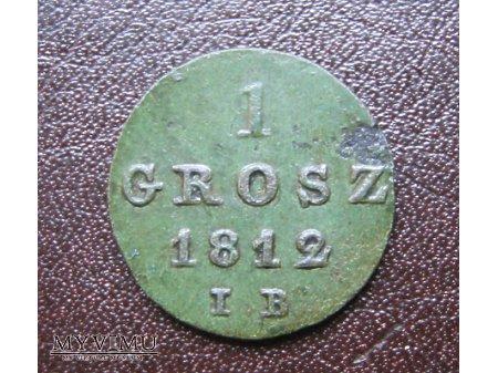 1 grosz 1812 Księstwo Warszawskie
