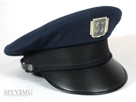 Czapka czeskiego policjanta