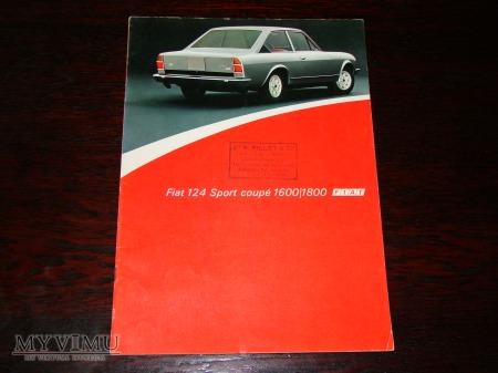 Prospekt FIAT 124 SPORT COUPE 1600/1800