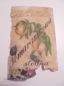 """Duże zdjęcie Etykieta """"Wódka Pomarańczowa""""-1947 r."""