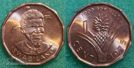 Suazi, 1 cent 1975