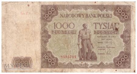 Polska - 1 000 złotych (1947)