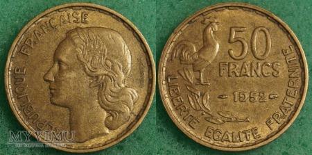 Duże zdjęcie Francja, 50 Francs 1952