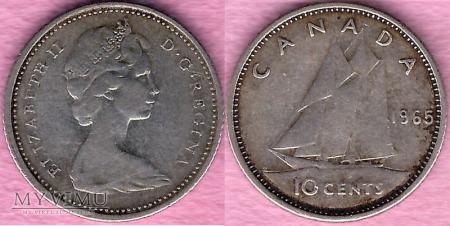 Kanada, 10 CENTS 1965