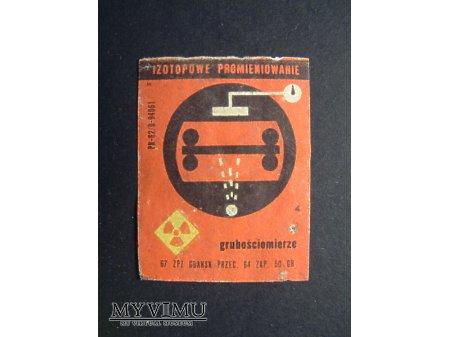 Etykieta - Izotopowe promieniowanie