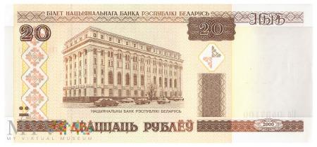 Białoruś - 20 rubli (2000)