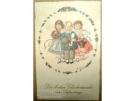 Pauli EBNER 1930 Życzenia Urodzinowe Dzieci