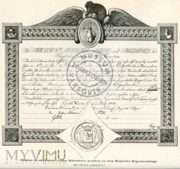 Dyplom obywatela Warszawy