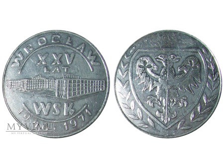 XXV lat WSK we Wrocławiu medal (Al) 1971
