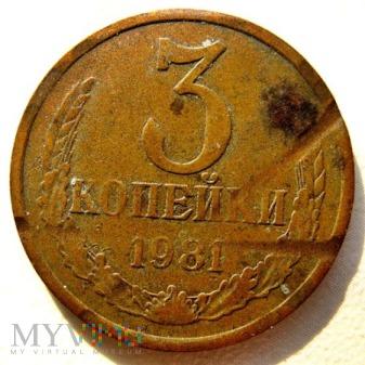 Duże zdjęcie 3 kopiejki - 1981 r. Rosja (Związek Radziecki)