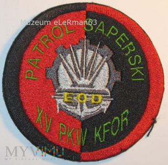 PKW KFOR XV zmiana. Patrol Saperski, EOD.