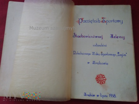 Helena Stachowicz pamiętnik Legja Kraków 1938