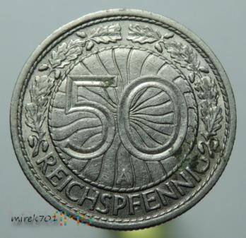 50 Reichspfennig 1929 A