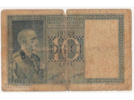 10 LIRE 1939 rok