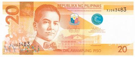 Filipiny - 20 pesos (2014)