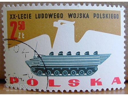 Transporter gąsiennicowy/amfibia na znaczku