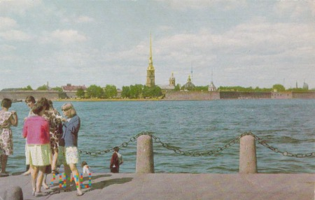 Leningrad. View of the Peter and Paul Fortress