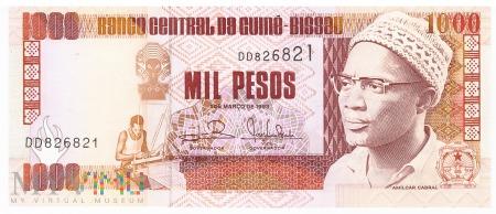 Gwinea Bissau - 1 000 pesos (1993)