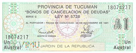 Argentyna (Tucumán) - 1 austral (1991)